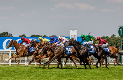 Horse Races at Sandown Park Race Course Esher